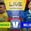 Resultado Bucaramanga vs Millonarios en Liga Aguila 2017-I (2-2)