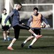 Último entrenamiento antes de enfrentarse al Villarreal