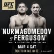 Khabib Nurmagomedov e Tony Ferguson se enfrentarão no UFC 209, em março