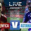 Resultado Benfica vs Astana en la Champions League 2015 (2-0)