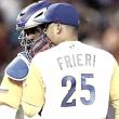 Ernesto Frieri a las mayores con los Rangers