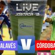 Alavés - Córdoba CF en directo en la Liga Adelante 2015 (3-2)
