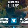 Iberostar Tenerife vs Valencia Basket en vivo y en directo online en Liga Endesa 2017-18