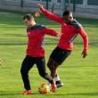 Todos los periquitos ya entrenan de cara al partido contra el Sevilla