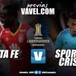 Santa Fe - Sporting Cristal: Los 'Cardenales' en busca de un triunfo en su segundo encuentro por Libertadores