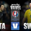 Italia - Suecia: Ibrahimović frente al bloque italiano