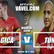 Previa Bélgica - Túnez: bajo dos panoramas distintos