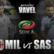 Previa AC Milan - Sassuolo Calcio: objetivo mirar hacia arriba