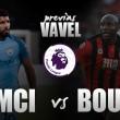 Manchester City-Borunemouth: seguir con la buena racha
