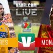Resultados y goles Tigres vs Monarcas (2-1)