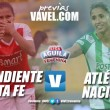 Previa: Santa Fe vs. Atlético Nacional: Por el paso a la final de la Liga Femenina