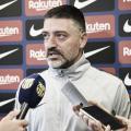 """García Pimienta: """"Somos profesionales y intentamos hacer las cosas bien y ganar el partido"""""""