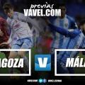 Previa Real Zaragoza - Málaga CF: duelo de Primera en Segunda División