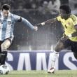 Historial: números inferiores para Colombia ante Argentina