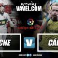Previa Elche - Cádiz CF: Duelo de intensidad en el Martínez Valero