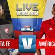 Santa Fe vs América en vivo y en directo online por la Liga Águila 2018