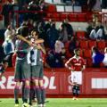 Los jugadores nazaries celebran la victoria. Foto: LaLiga