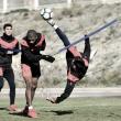 El Rayo se entrena con menor carga física a 48 horas de recibir al Huesca