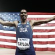 World Athletics Championships: Christian Taylor edges Will Claye to claim historic third gold medal