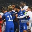 Everton 1-2 Lyon: Second half fracas overshadows Blues Europa League defeat