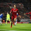 Liverpool 2-1 Everton: Late van Dijk debut header sends Reds through