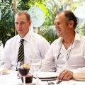 Un almuerzo con Jim Moran pone el broche de oro a su homenaje