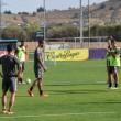 André Leao completa el entrenamiento junto a sus compañeros