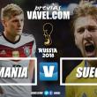 Em confronto marcado pelo equilíbrio, Alemanha busca primeira vitória no Mundial diante da Suécia