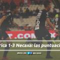 Puntuaciones de Necaxa en la jornada 1 de la Liga MX CL19