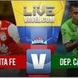 Resultado Santa Fe vs Deportivo Cali por la Liga Águila 2017-II (2-0)