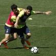 Seis ausencias en el primer entrenamiento preparatorio para visitar al Huesca