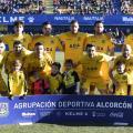 El Alcorcón listo para jugar. Fotografía: La liga