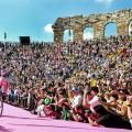 Carapaz entra in maglia rosa nell'Arena di Verona&nbsp; Fonte foto: Profilo Twitter Giro d'Italia<div><br></div>