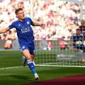 Harvey Barnes celebrates his first Leicester City goal against West Ham United | Photo: Getty/ Jordan Mansfield