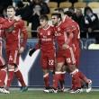 Águias desligaram o Dinamo: triunfo em Kiev dá alento na 'Champions'