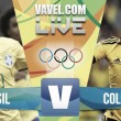 Resultado Brasil vs Colombia por los Juegos Olímpicos de Río 2016 (2-0)
