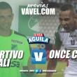 Previa Deportivo Cali vs. Once Caldas:El líder se expone en el Palmaseca