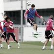 Varane y Bale, novedades del entrenamiento del jueves