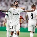 Isco celebra su gol de falta ante la Roma. | Foto: Real Madrid.