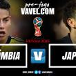 Pela segunda vez consecutiva, Colômbia e Japão se enfrentam em fase de grupos da Copa