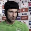 Petr Cech atiende a los medios de comunicación tras el partido | Fotografía: Arsenal