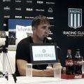 Coudet en conferencia luego del partido contra Boca. Foto: Racing de Alma