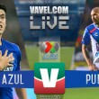 Cruz Azul vs Puebla en vivo online en Liga MX 2018 (1-1)