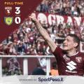 Il Torino strapazza il Chievo Verona: tre reti per continuare a sognare l'Europa