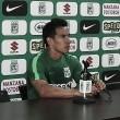 """Diego Arias: """"Estamos trabajando con mucha convicción y confiamos en las indicaciones del cuerpo técnico"""""""
