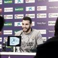 Antoñito esta mañana en la rueda de prensa en el José Zorrilla. Fotografía: Real Valladolid