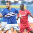 Sampdoria: la gioia di Quagliarella e Giampaolo nel post-gara