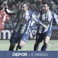 Quique y Borja Valle celebrando el tercer gol // RCDeportivo