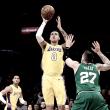 Kuzma brilha, Lakers dominam partida no segundo tempo e vencem Celtics