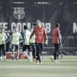 Preparación para el Sporting sin Mathieu